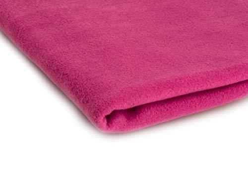 Telas Polar tela de lana, prendas de punto 200 g/m² - Disponible en una variedad de colores - 50 x 160 cm (Fucsia)
