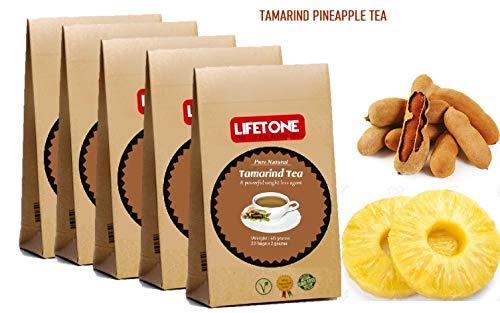 Tamarinden-Ananastee | Köstliche tropische Mischung | 100% natürlicher Kräutertee | Tee zum Abnehmen | Entgiftungstee zur Gewichtsreduktion Fettverbrennung | 100 Teebeutel 5 Sets | Abführender Tee