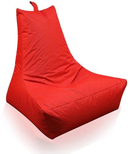 Mesana XXL Lounge-Sessel, ca. 100x90x80 cm, Sitzsack für Outdoor & Indoor, wasserabweisend, viele verschiedene Farben, rot