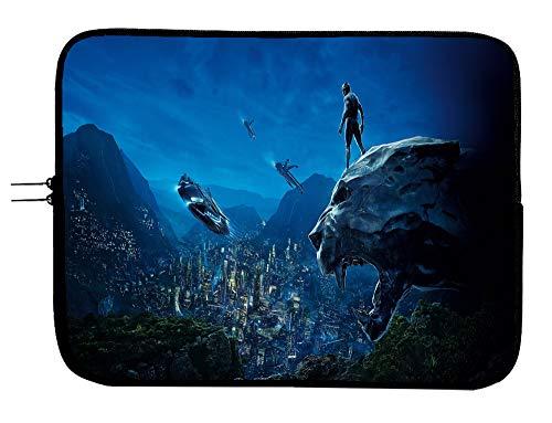 Black Panther Superhero Laptop Sleeve Bag 15 Inch Laptop Case with Mousepad Surface MacBook Pro/MacBook Air Laptop/Tablet Water Repellent Laptop Bag Case
