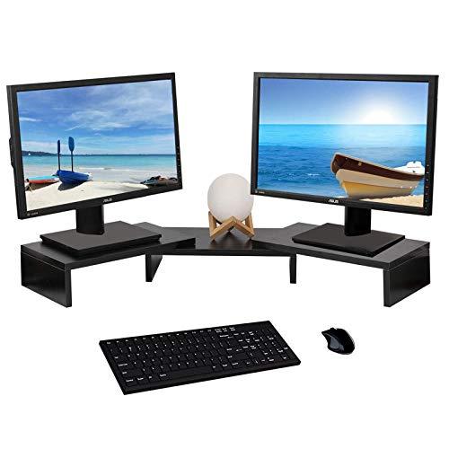 YCOCO Multifunktionaler Schreibtisch-Organizer mit 3 Ablagen, mit verstellbarer Länge und Winkel, Schwarz