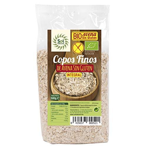 SOLNATURAL Copos Avena Finos S/Gluten Familiar BIO1 g, No aplicable