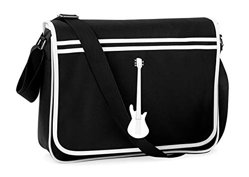 Druckerlebnis24 Schultertasche - Gitarre Axt Musik Musical - Umhängetasche, geeignet für Schule Uni Laptop Arbeit