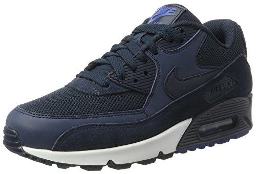 Nike Air MAX 90 Essential, Zapatillas de Gimnasia Hombre, Azul (Armor Nav/Armor Nav-Blue Ja-White), 39 EU