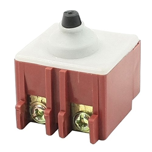 TOOGOO(R) Amoladora angular AC 250V 6A 125V / 12A Interruptor de pulsador DPST para Bosch 6-100
