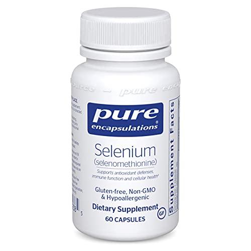 Pure Encapsulations Selenium (Selenomethionine) | Antioxidant Supplement for Immune System, Prostate, Collagen and Thyroid Support* | 60 Capsules