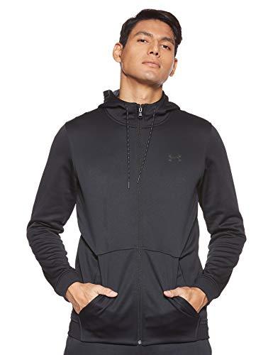 Under Armour Men's Fleece Full Zip Hoodie, Black (001)/Black, Small