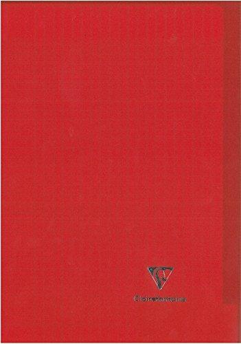 Clairefontaine Koverbook - Cuaderno cosido de 96 páginas con cuadrículas grandes y tapa Polypro, color rojo