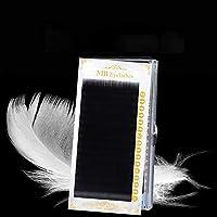 YYHZ 16行まつげカーリング個々の100%Lashe Maquiagem Ciliosの偽の睫毛ソフト3Dつけまつげ拡張はCILSをのど (Color : J, Size : 8mm)
