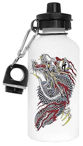 Yakuza Bottiglia d'acqua Bianca Alluminio Riutilizzabile Water Bottle White Aluminium Reusable