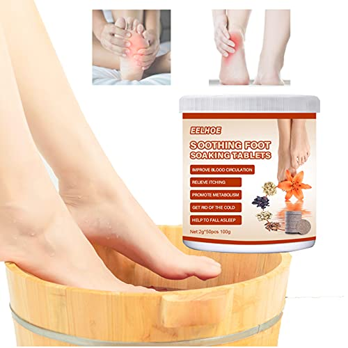 KKAA Foot Soaking Tablets, Chinese Medicine Foot Bath, for Relieve Fatigue Improve Sleeping Foot Pain Foot Care & Lymphatic Drainage