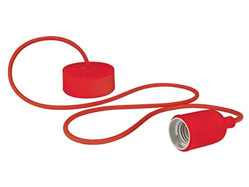 VELLEMAN - LAMPH01R Vellight Design Deckenleuchte mit Textilkabel, Rot 232274