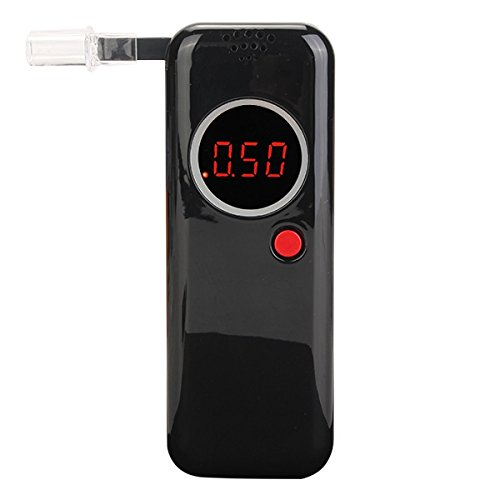 Digtal LED display Breathalyzer tester rivelatore analizzatore con inglese Mannual