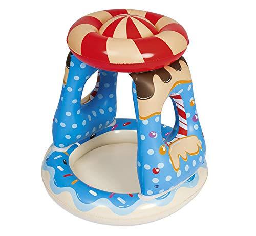 GYAM Piscina Inflable para Niños De PVC, Bañera Interior Portátil, Centro De Juegos Familiar Diseño De Toldos, Terraza Jardín Césped