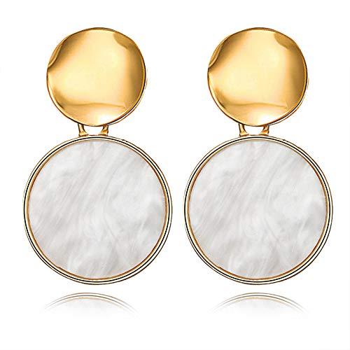 Burenqi Oorbellen hart creatief mode oorbellen vierkant hars onregelmatige sieraden dames handgemaakt geschenk