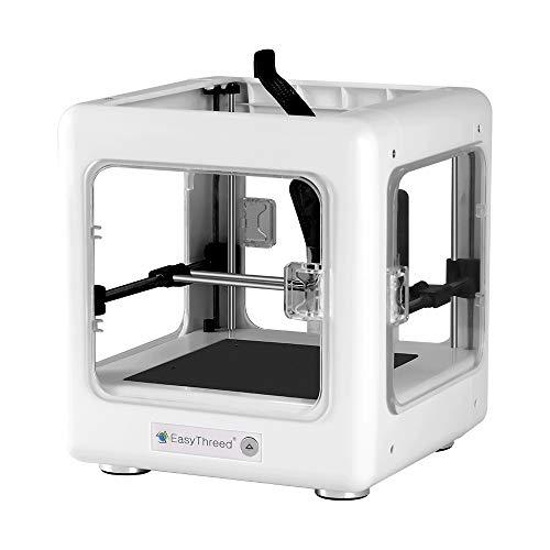 Kacsoo Imprimante 3D DIY Kit 90 * 110 * 110mm Taille d'impression Prise en charge de l'impression à une touche avec buse de 0,4 mm/certificat CE pour l'éducation domestique et les étudiants blanc