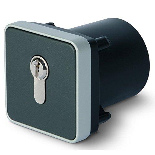 BAUER - Schlüsselschalter unter Putz, 2 seitig, Metallgehäuse, mit EU Zylinder Tastend