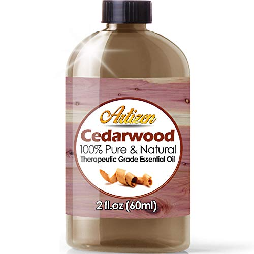 2oz - Artizen Cedarwood Essential Oil (100% Pure & Natural - UNDILUTED) Therapeutic Grade - Huge 2 Ounce Bottle - Perfect for Aromatherapy