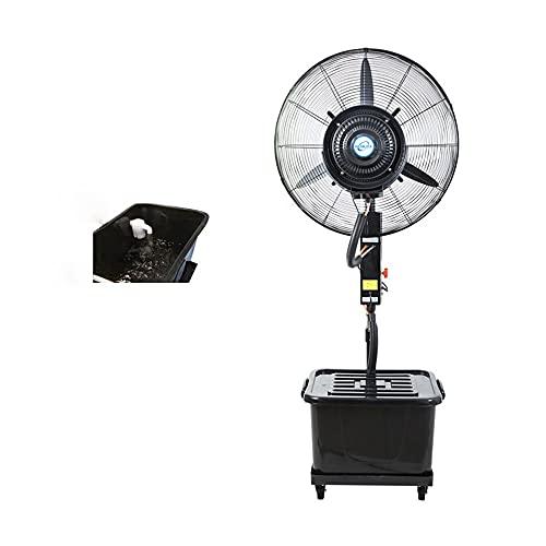 FUFU Climatizadores evaporativos Ventilador de niebla oscilante con 3 velocidades de enfriamiento 120 ° Ventilador de enfriamiento oscilante para aplicaciones de nebulización residencial, comercial, r