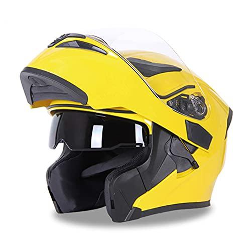 Casco abatible de motocicleta DOT ECE Seguridad de carreras Motocross Abrible y modular integral Hombres y mujeres Cascos de bicicleta de doble visera,E,M