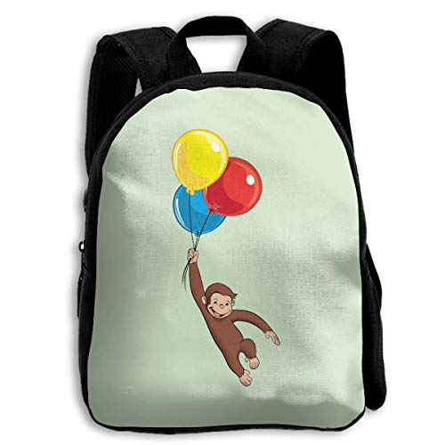 Okhagf Curious George School Backpack Travel Bag For Boys And Girls