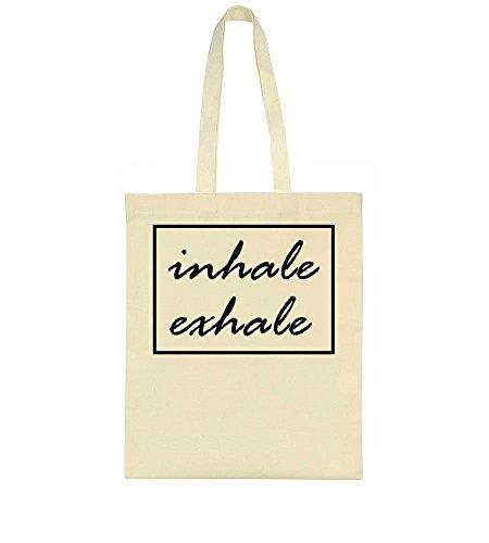 IDcommerce Inhale Exhale Slow Breathing Meditation Tote Bag