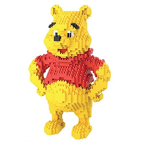 CCDUSE Bloques de construcción de Dibujos Animados Classic Winnie The Pooh Micro Diamond Block Block Juguetes para Childre, Bricolaje Juguetes educativos, Regalos de cumpleaños Infantiles