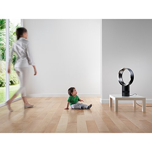Dyson Air Multiplier AM06 Table Fan, 10 Inches, White/Silver