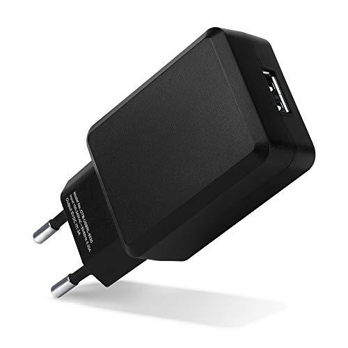 CELLONIC Cargador USB Pared para 1 USB Port 3A / 3000mA (220V - 240V) con 15W - 3A Cargador rápido USB Adaptador Enchufe USB para Tomas EU Estación de Carga USBAdaptador de Corriente USB