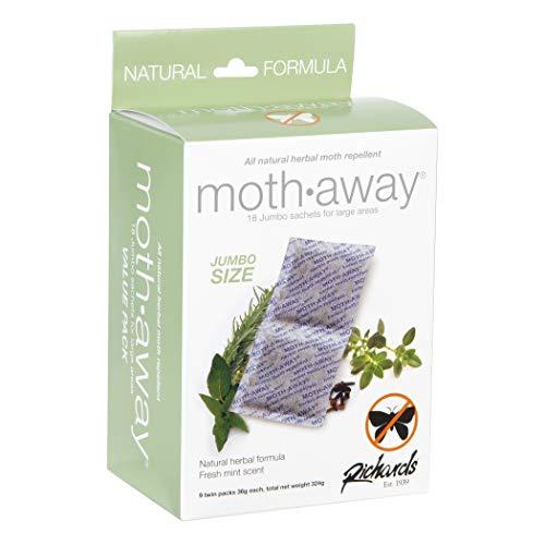 Richards Homewares Moth Away Herbal Non Toxic Natural Repellent, 18-Count