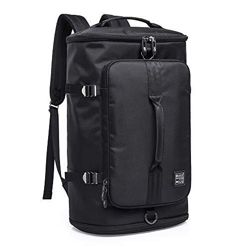 Sport Rucksack Turnhalle Duffels Sporttasche Reisentasch Gepäck Große Kapazität mit Schuhfach und 2 Handgriffe, Multiuse wie Laptop Backpack Handtasche Multipockets, Leinwand Daypack 40L