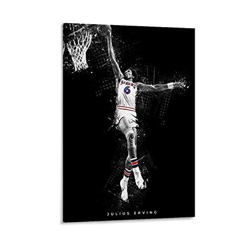 LCYB Póster artístico de baloncesto y cuadro de pared, impresión moderna para habitación familiar, 20 x 30 cm