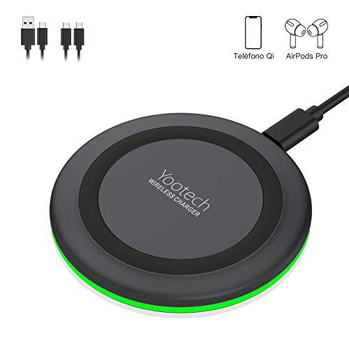 yootech Chargeur sans Fil, Qi Chargeur à Induction pour iPhone 11/11 Pro/11 Pro Max/XS MAX/XR/XS/X/8/8 Plus/AirPods Pro 2019, 10W pour Galaxy S20/S10/10+/10e/S9/ S9+/S9 Plus/Note 8/S8/S8 Plus, etc