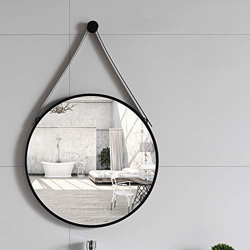 Nordischer Schminkspiegel Runder Hängender Spiegel Metallwandhalterung HD Silber Spiegelbild Ist Klar Spiegelkunst Toilette Badezimmer Dekor