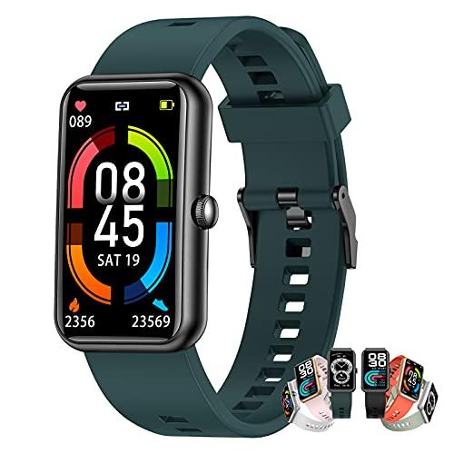 BNMY Relojes Inteligentes Hombre Llamada Bluetooth con Pulsómetro,Podómetro,Monitor De Sueño,Modos De Deportes Cronómetrol,Pulsera De Actividad,Smartwatch Inteligentes Hombre para iOS Y Android,C