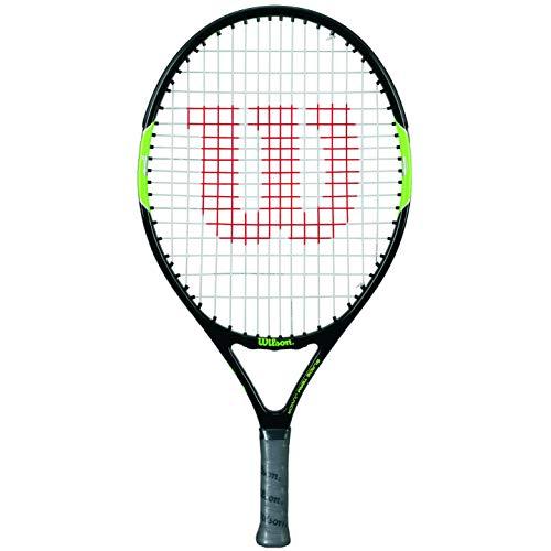 Wilson Blade Team 21 Raqueta de tenis para niños con altura de 100 a 115 cm, Negro/Verde