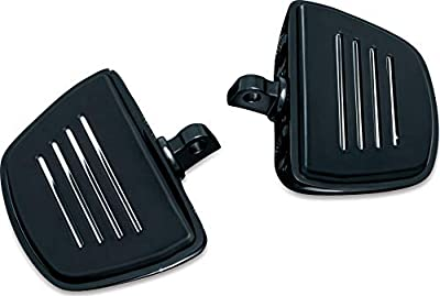 Kuryakyn 7578 Motorcycle Foot Control Component: Premium Mini Board Floorboards with Male Mount Adapters, Gloss Black, 1 Pair from Kuryakyn
