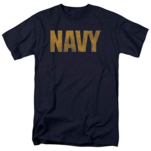 Popfunk U.S. Navy Distressed Logo T Shirt & Stickers (X-Large)