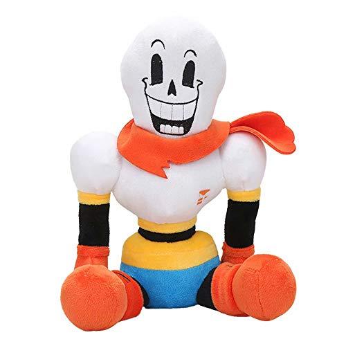 Qiujiam 2 stücke Undertale Sans Toy Figur Undertale Plüsch Papyrus Puppe Spielzeug für Jungen und Mädchen Thanksgiving Sans Mask Kostüm Gefüllte Plüschtiere