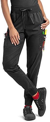 Industry Line Women's Jogger Chef Pant (Black, Petite Medium)