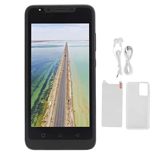 Jeankak Smartphones Desbloqueados, 5,0 en Pantalla Teléfono Móvil con Cámara HD y Ranura para Tarjeta De Memoria, TeléFono Inteligente para El Trabajo y El Entretenimiento (512 MB + 4Gb)(Negro)