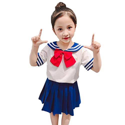 NSPSTT Sailor Moon Costume Kids Japanese School Girl Uniform Anime Yandere Chan Cosplay Costume