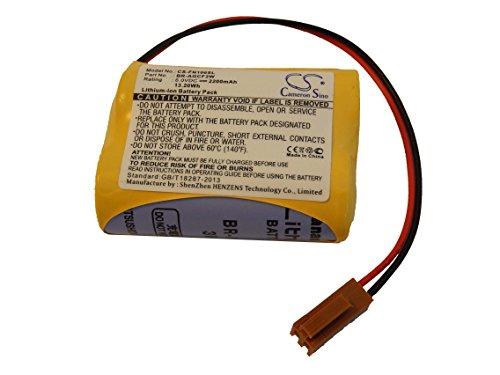 vhbw Batería recargable compatible con Ge Fanuc A98L-0031-0011, Beta iSV Amplifier Controlador Lógico Programable, PLC (2200 mAh, 6 V, Li-Ion)