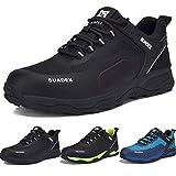 Zapatos de Seguridad para Hombre con Puntera de Acero Zapatillas de Seguridad Trabajo, Calzado de Industrial y Deportiva (Negro,42EU)
