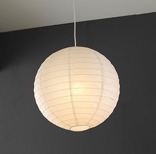 Papierleuchte Pendelleuchte Deckenleuchte Deckenlampe | Papier | Weiß | Ø 40 cm