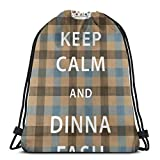 QUEMIN Drawstring Backpack Gym Sack,Cinch Bag String Bag,Durable Black Bags for Boys/Girls/Men/Women Outlander Fraser Tartan Keep Calm And <span class='highlight'><span class='highlight'>Dinna</span></span> Fash