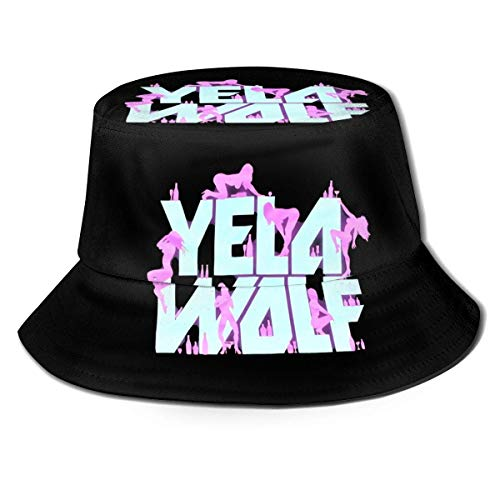 Yelawolf Playboy plegable sombra completa sombrero de pescador unisex al aire libre impreso sombrero...
