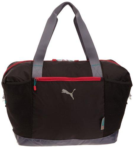 PUMA Damen Sporttasche Fitness Workout Bag, Black-Grisaille-Virtual pink, 36 Liter, 071533 01