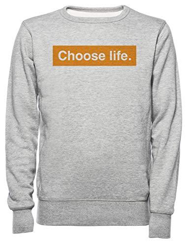 Choose Life Dames Mannen Unisex Sweatshirt Trui Grijs Women's Men's Unisex Sweatshirt Jumper Grey