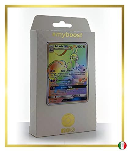 Altaria-GX 72/70 Arcobaleno Segreto - #myboost X Sole E Luna 7.5 Trionfo dei Draghi - Box di 10 Carte Pokémon Italiane